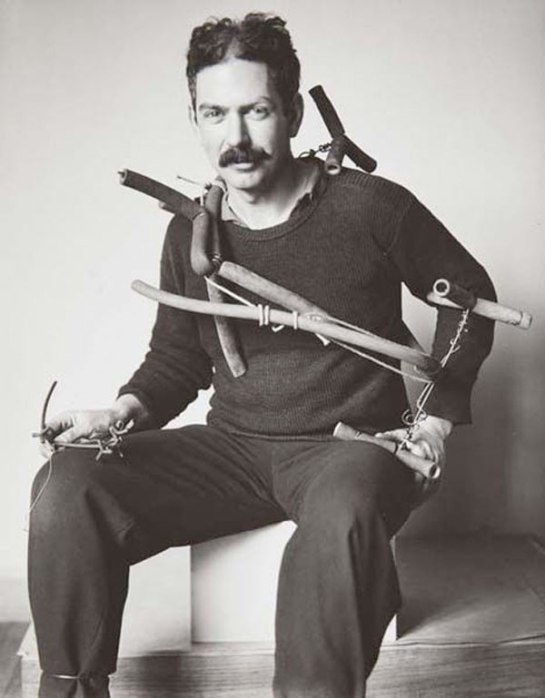 American-Sculptor-Alexander-Calder-photographerd-by-Hungarian-Photographer-Andre-Kertes-in-Paris-France-1929