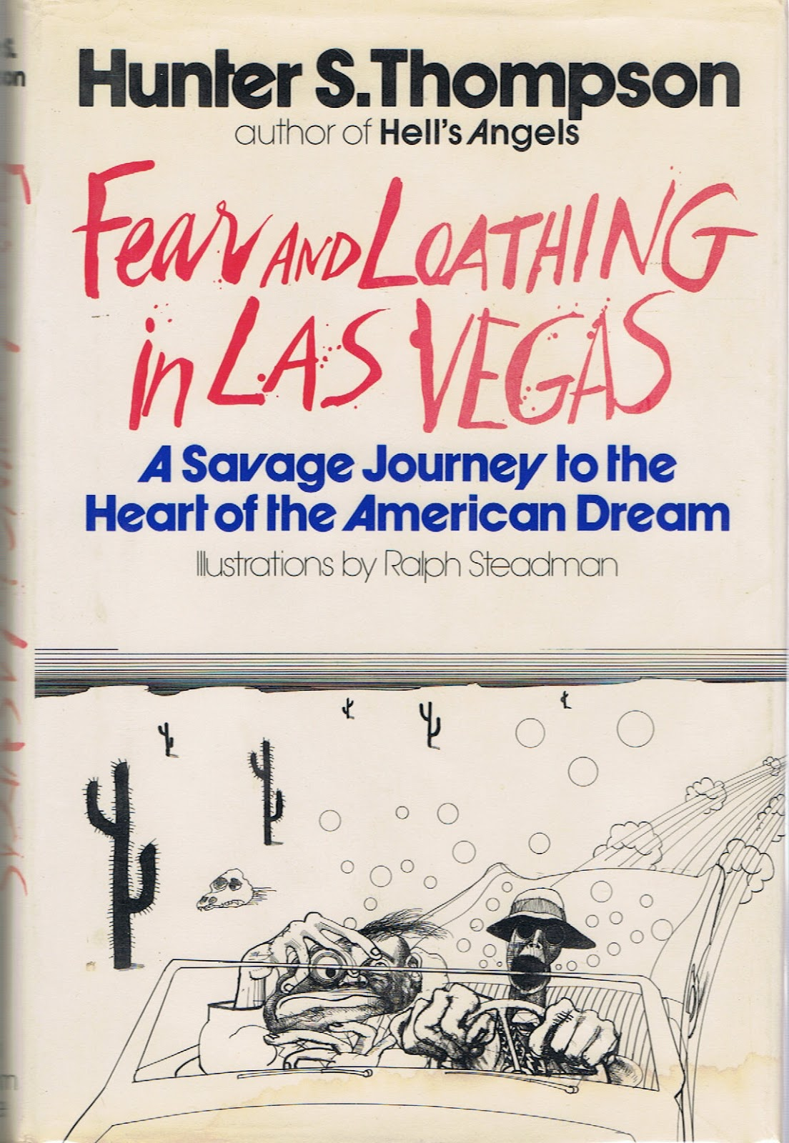 a comparison of the movie and book fear and loathing in las vegas by hunter s thompson Hunter s thompson's 1971 book fear and loathing in las vegas: a savage journey to the heart of the american dream carries with it so much cultural (or counter-cultural) baggage that to make.