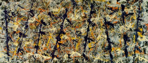 Pollock, Blue Poles (Number 11), 1952.