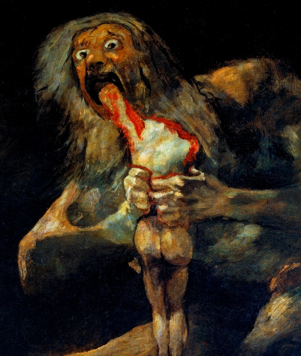 Goya, Saturn Devouring His Son, 1819-1823
