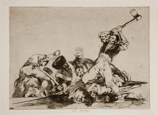 Goya, Plate 3: Lo Mismo (The Same), 1810-1820.