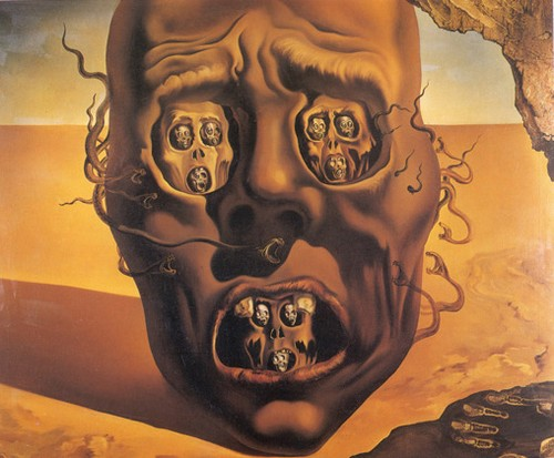 Salvador Dali, The Face of War, 1940.