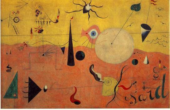 Joan Miro, Catalan Landscape (The Hunter), 1923-24.