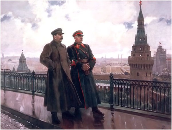 Stalin-and-Voroshilov-in-the-Kremlin