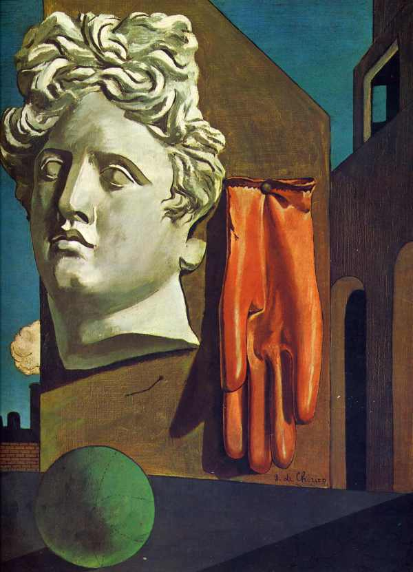 Giorgio De Chirico, The Song of Love, 1914.