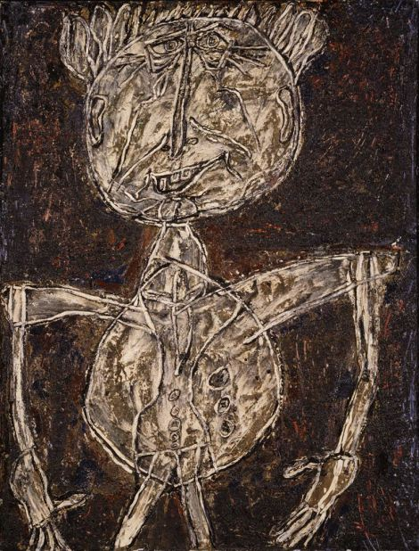 A work by Art Brut founder Jean Dubuffet, Limbour as a Crustacean, 1946.