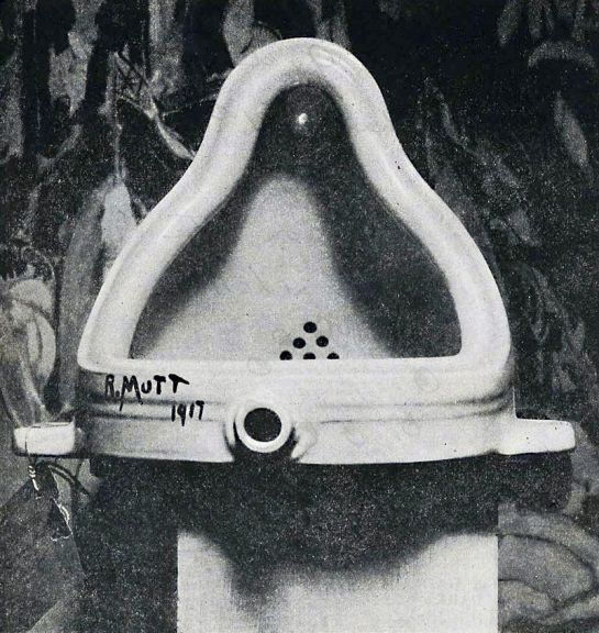 Marcel Duchamp, Fountain, 1917.