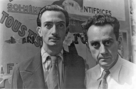 Man Ray and Salvador Dali.
