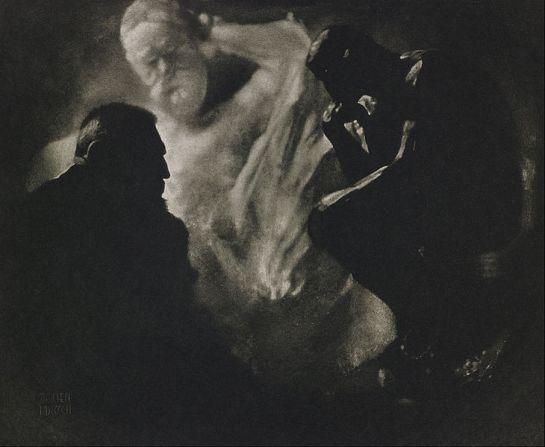 Edward Steichen, Rodin, Le Penseur, 1902.