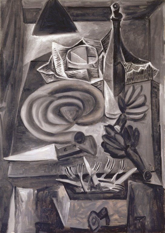 A work of Picasso's during the German occupation of France, Still Life with Blood Sausage, 1941.