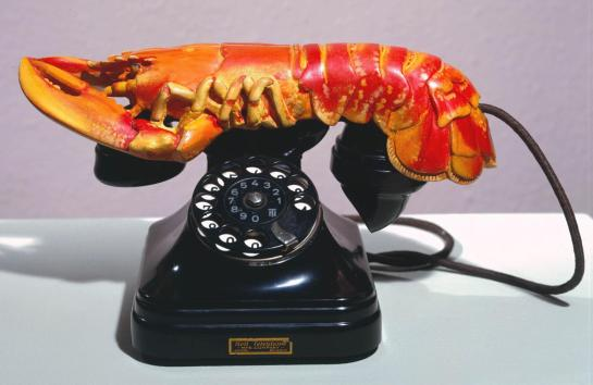 Salvador Dali, Lobster Telephone, 1936.