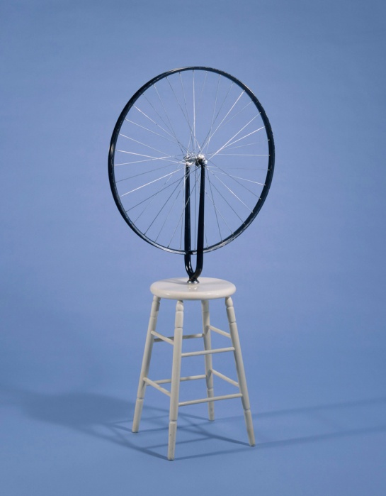 Marcel Duchamp, Bicycle Wheel, 1964.